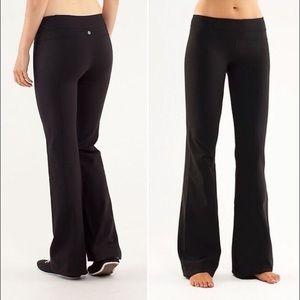 Lululemon Classic Black Yoga Straight Leg Pants